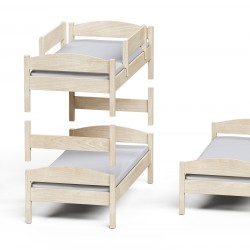Casakids Loft Κουκέτα Μετατρεπόμενη με Αποσπώμενη Σκάλα 100x204 cm ή 100x214 cm